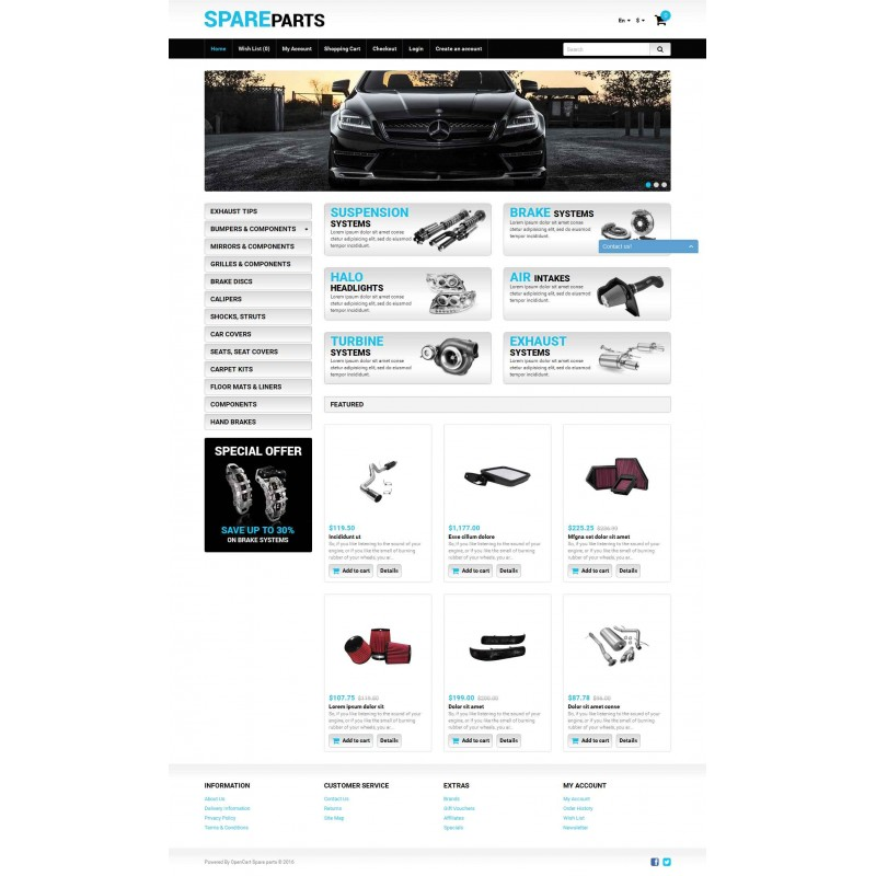 Auto Store OpenCart Template Monster