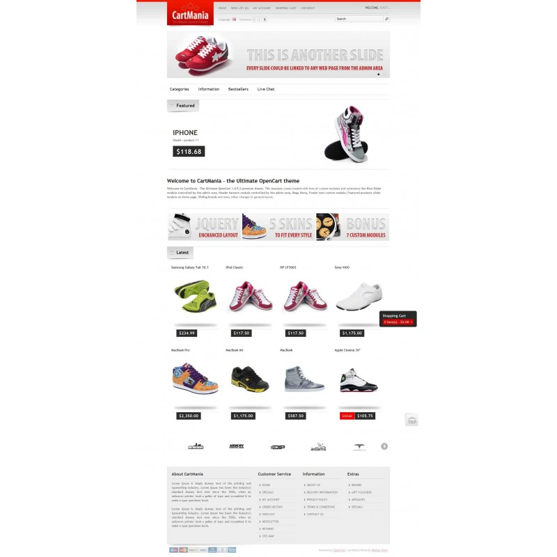 CartMania the Ultimate OpenCart Theme