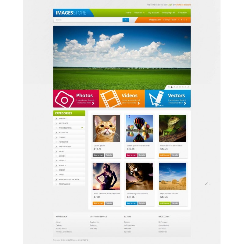 Images Store Responsive OpenCart Theme