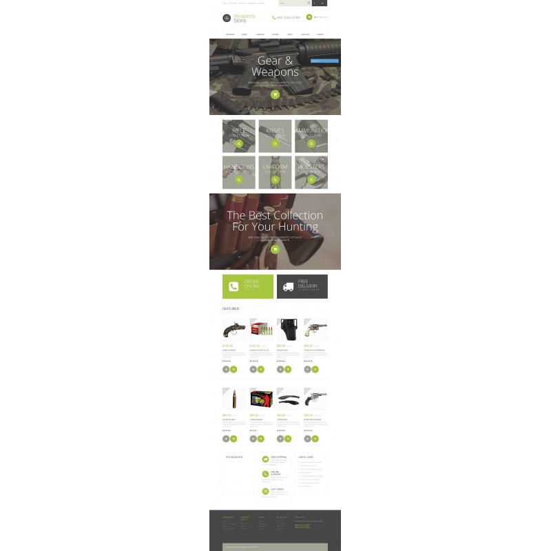 Weapons Collection OpenCart Theme