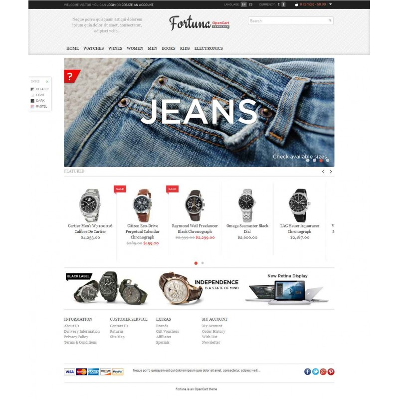 Fortuna Elegand And Responsive OpenCart Theme
