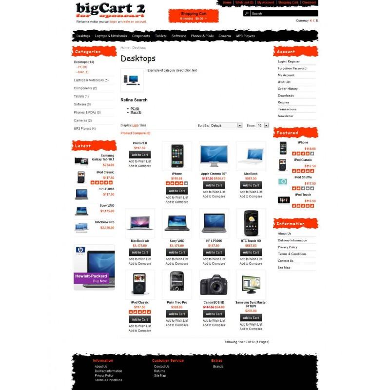 Bigcart 2 OpenCart Theme