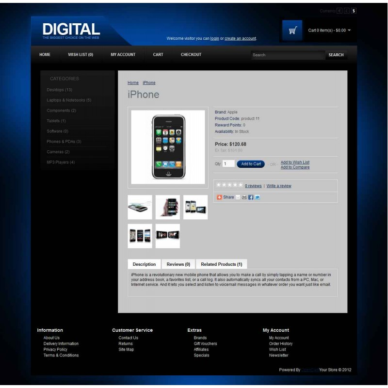 Digital OpenCart Theme