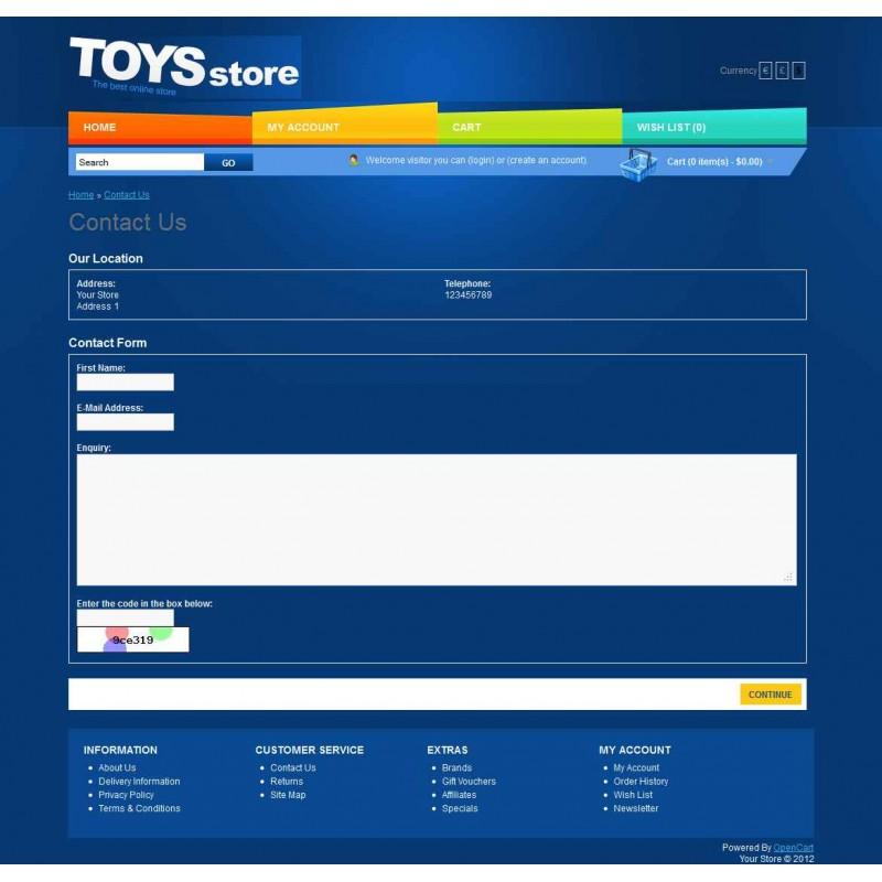 Toys Store OpenCart Theme