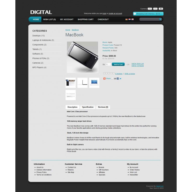 Digital2 OpenCart Theme