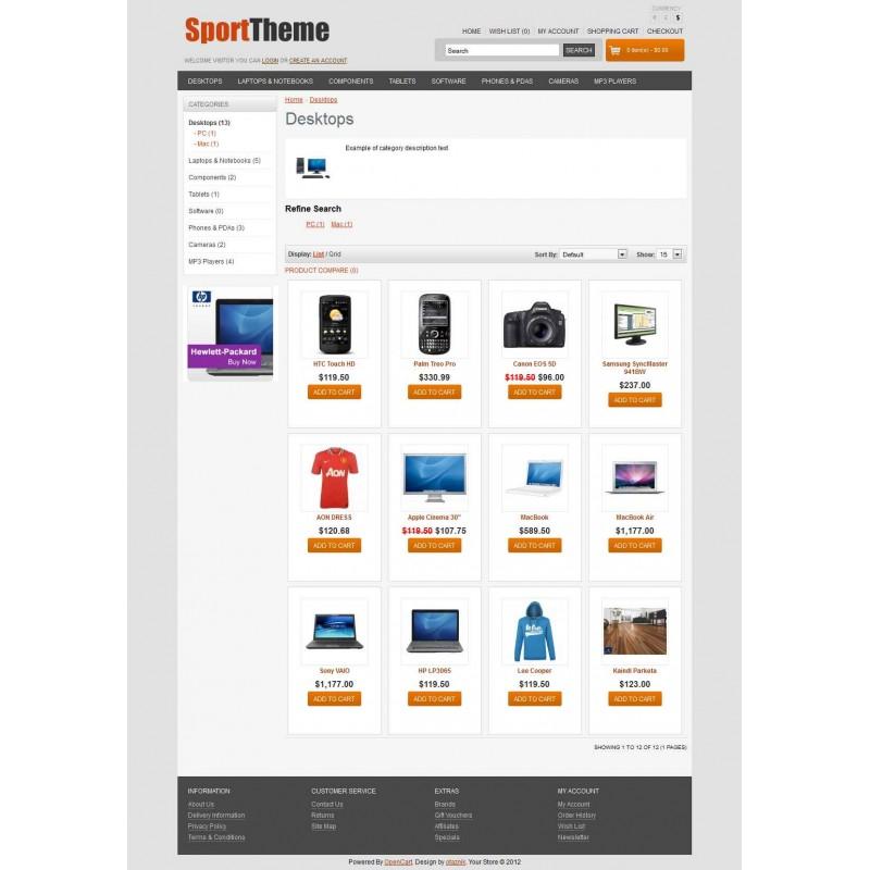 SportTheme OpenCart Theme