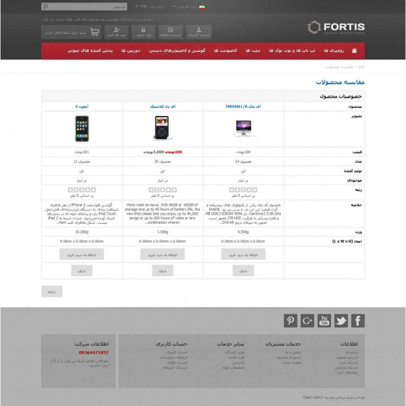 Fortis Responsive OpenCart Theme