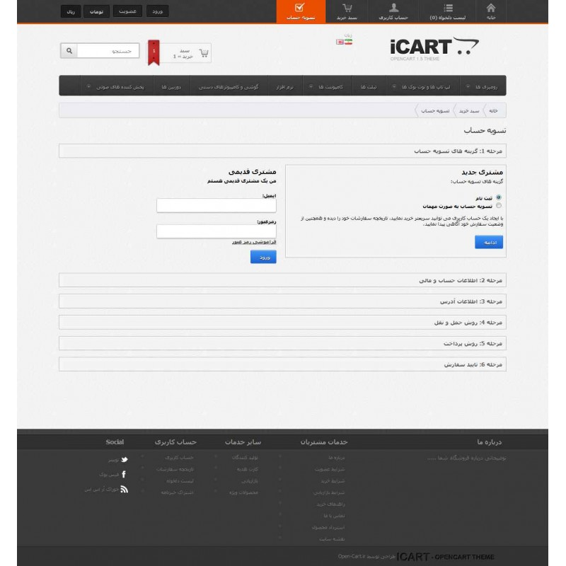 ICart Template For OpenCart