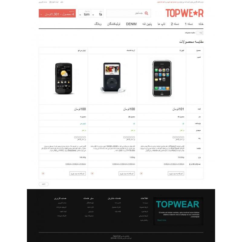 TopWear Responsive OpenCart Theme