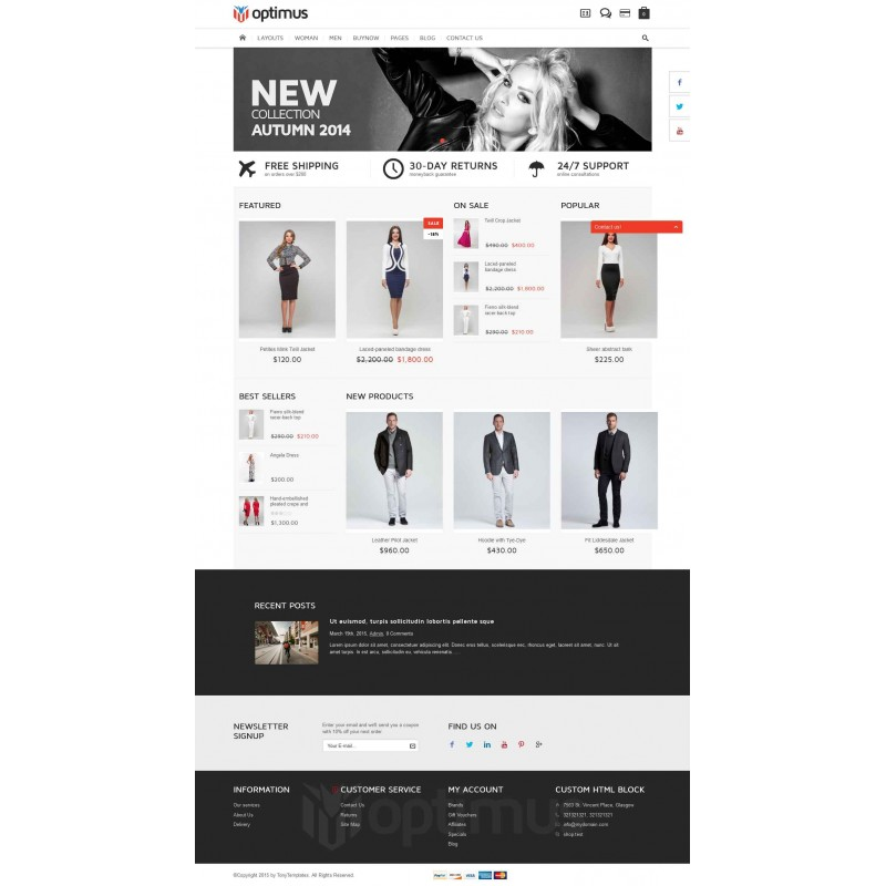 Optimus Flexible Responsive OpenCart Theme