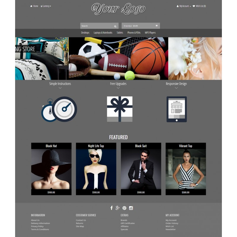 Revolution 6 Color - Responsive Opencart Theme