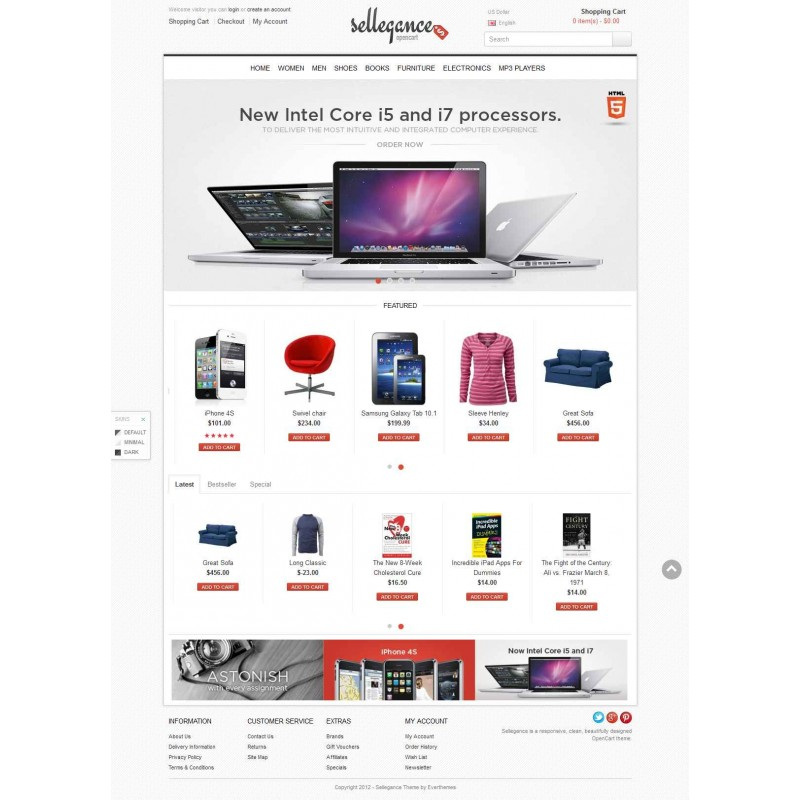 Sellegance Responsive And clean OpenCart Theme
