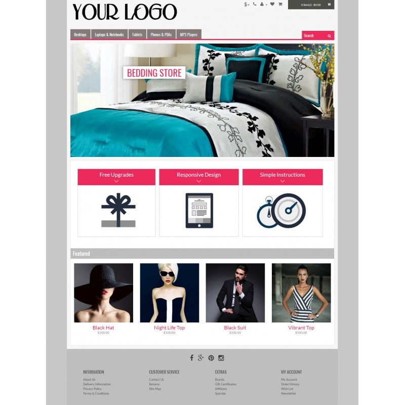 Simple Classic 6 Color - Responsive OpenCart Theme