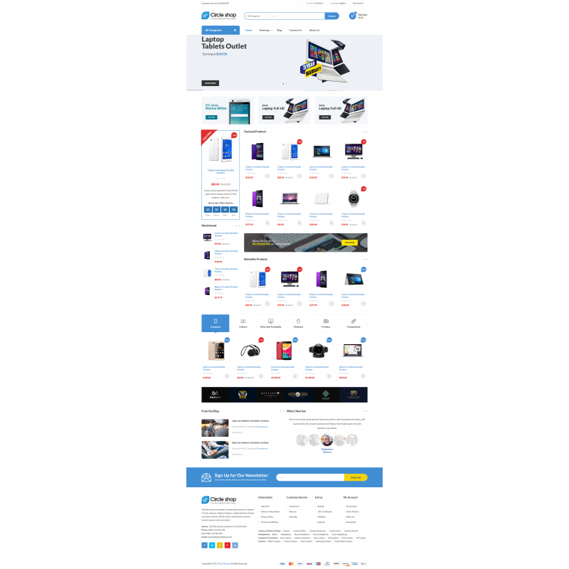 Circle Shop - Responsive Opencart Theme