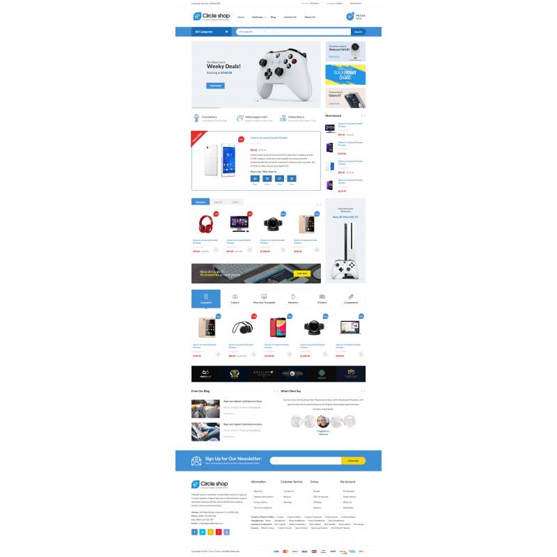 Circle Shop - Responsive Opencart Theme