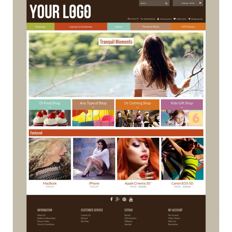 Uptown 4 Color - Responsive Opencart 2 Theme
